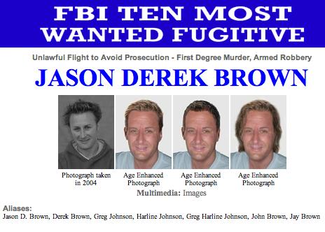 jason derek brown orang paling di cari fbi
