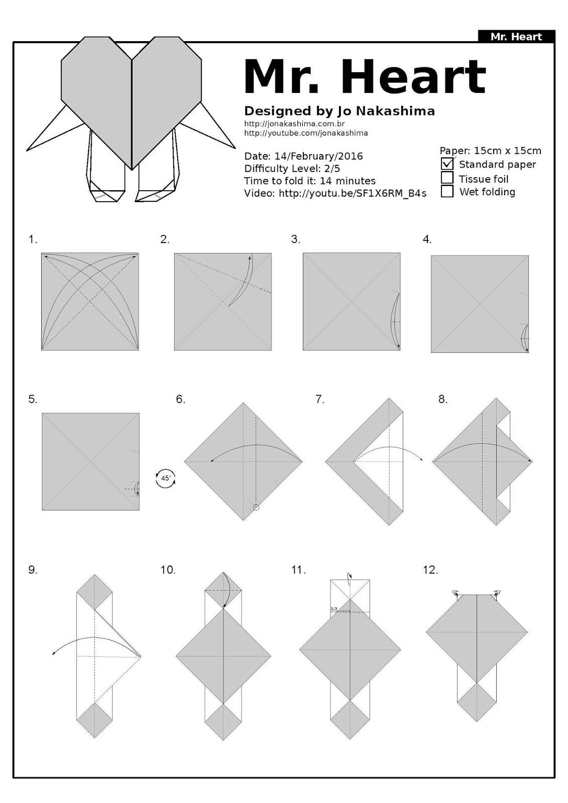 Ruby Book Origami Diagram Mr Heart Jo Nakashima