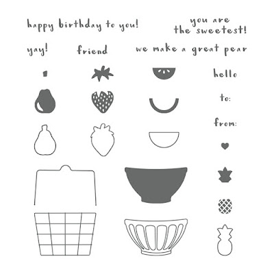Stampin' Up! UK Independent  Demonstrator Susan Simpson, Craftyduckydoodah!, Stampin' Up! Third Anniversary, Supplies available 24/7 from my online store, Fruit Basket,