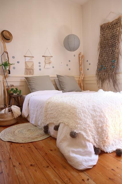 linge de lit / linen / lin / chambre / mandala / ethnic / Atelier rue verte, le blog