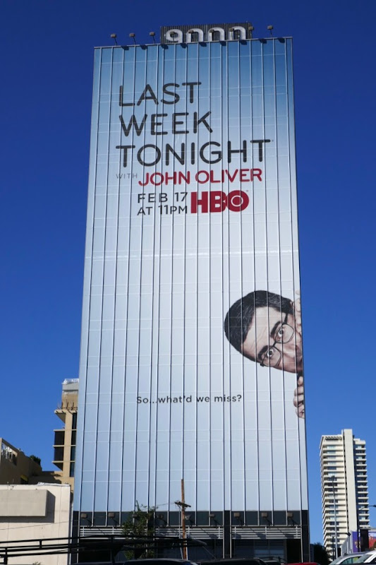 Giant Last Week Tonight John Oliver season 6 billboard