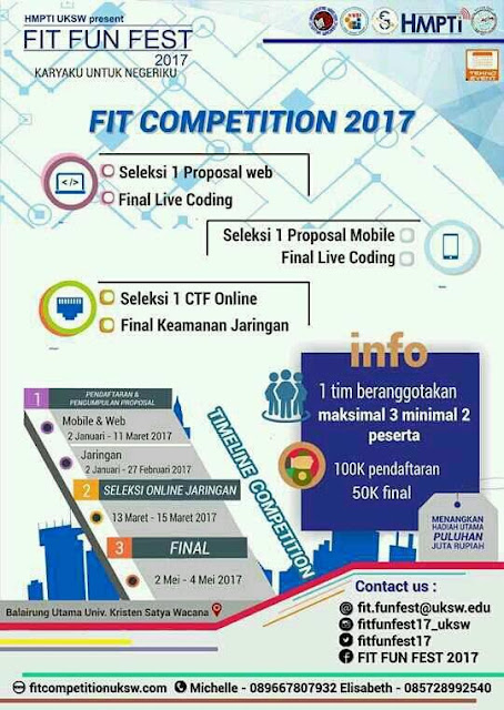 FIT FUN FEST 2017 | DL: 11 Maret 2017 | Win: Uang tunai total puluhan juta