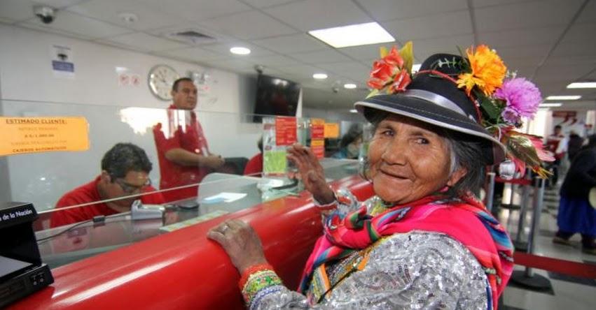 BN: Banco de la Nación pagará este domingo 13 a usuarios de Pensión 65 - www.bn.com.pe