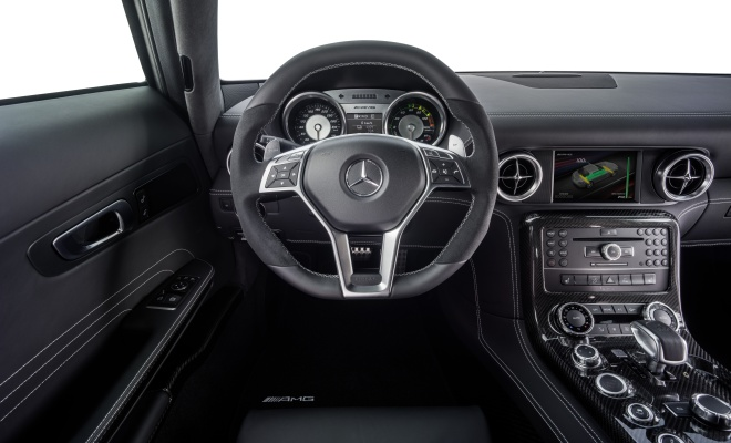 Mercedes AMG SLS Electric Drive cockpit