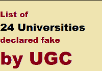 Remember these 24 Universities declared as fake by UGC