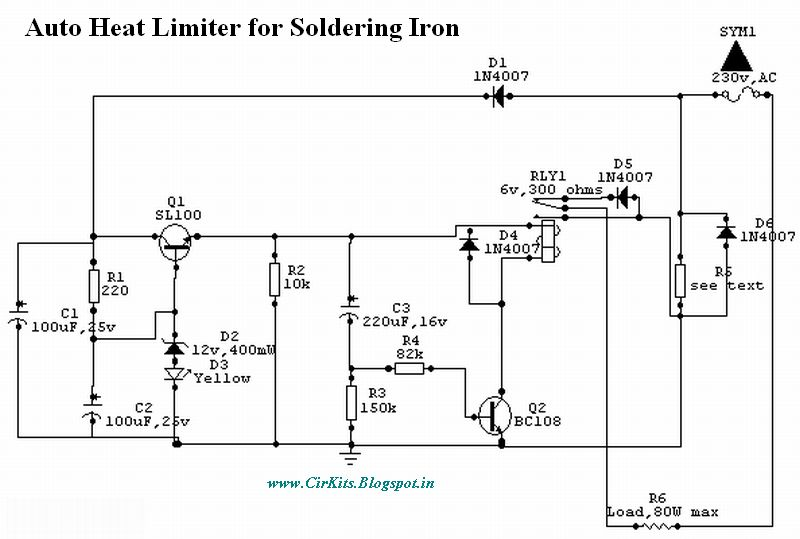 Enjoyable Auto Heat Limiter For Soldering Iron Basic Electronics Wiring Diagram Wiring Cloud Geisbieswglorg