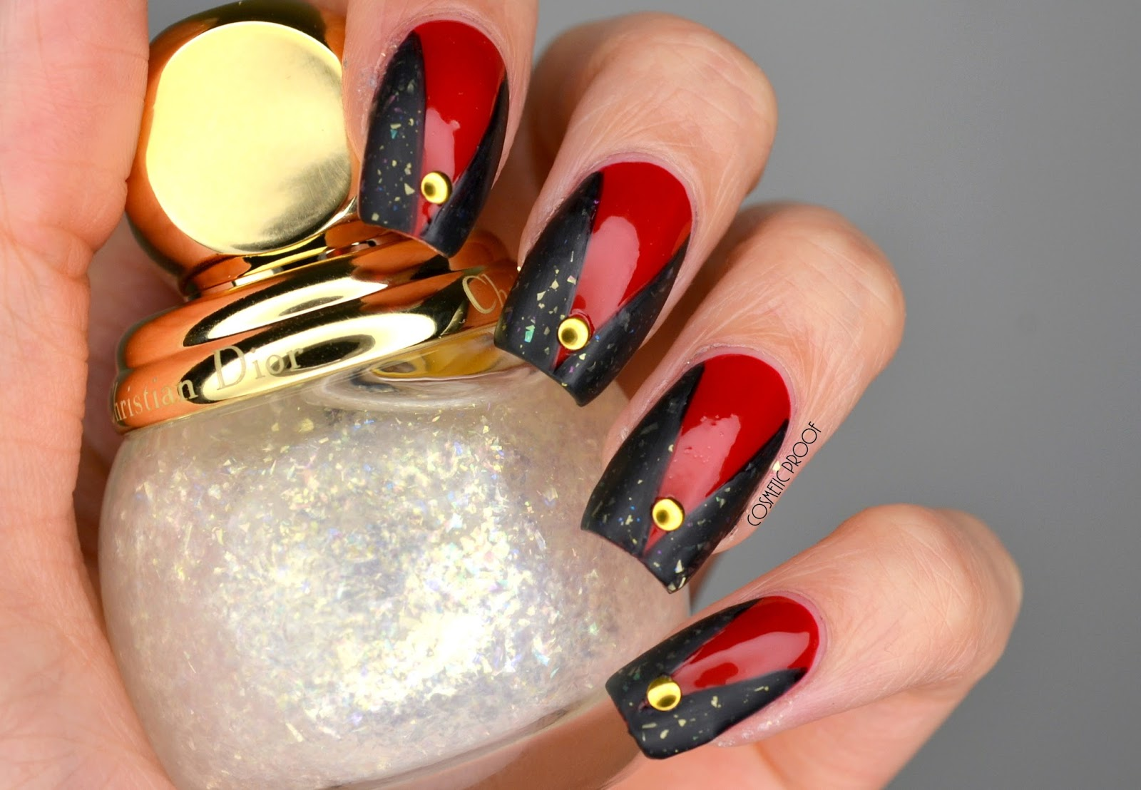 Nail Art Ideas edgy nail art : NAILS | Edgy Holiday Nail Art with Dior Nova | Cosmetic Proof ...