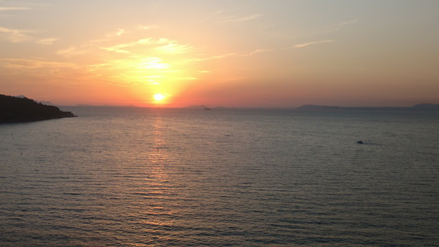 sunset in Sorrento