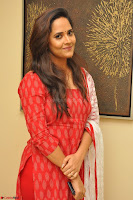 Anusuya in Red at Kalamandir Foundation 7th anniversary Celebrations ~  Actress Galleries 026.JPG