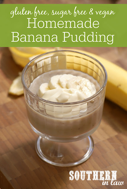 Healthy Homemade Banana Pudding Recipe - low fat, gluten free, healthy, sugar free, vegan, dairy free, egg free