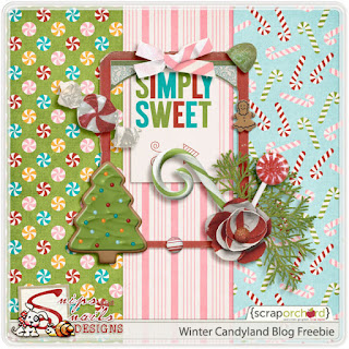 Winter Candyland Blog Freebie by Snips and Snails Designs