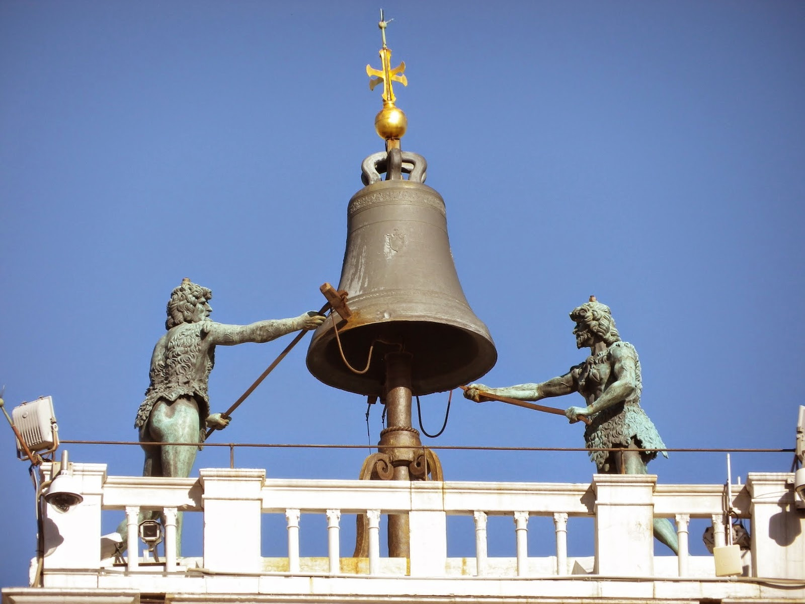 The two Moors, once known as li doi ziganti, Torre dell'Orologio, Piazza San Marco, Venice
