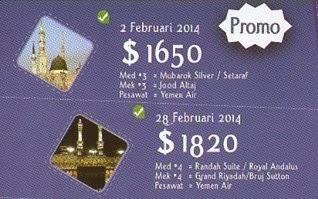 Paket Umroh Promo Bulan Februari 2015