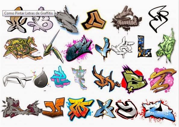 Abecedario Graffitis Letras