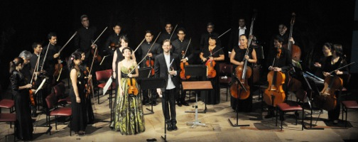 Robert Ames and Galya Bisengalieva performing in Kazakhstan