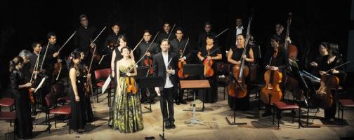 Robert Ames and Galya Bisengalieva performing in Kazakhstan