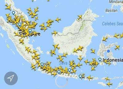 Melihat penerbangan dan pesawat di atas langit kita