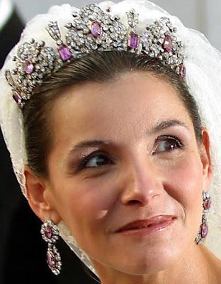 Queen Maria Theresa Sardinia Italy Savoy Pink Tourmaline Parure Tiara Clothilde
