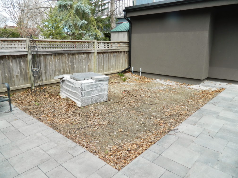 the danforth Toronto garden design before by Paul Jung Gardening Services