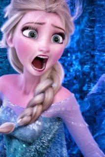 Gambar Elsa Frozen marah