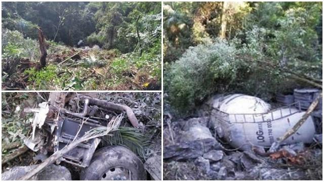 Nessa tarde desta sexta feira (12/04), por volta das 16 horas, aconteceu um acidente na RJ-116 kM 58, na serra entre Nova Friburgo e Cachoeiras de Macacu.