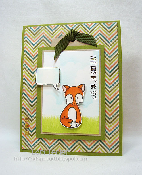 What Does the Fox Say?-designed by Lori Tecler-Inking Aloud-stamps from Sweet Stamp Shop