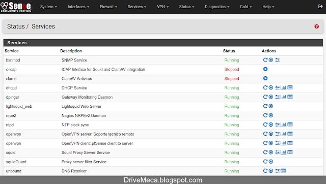 DriveMeca refrescando el cache en un pfSense paso a paso