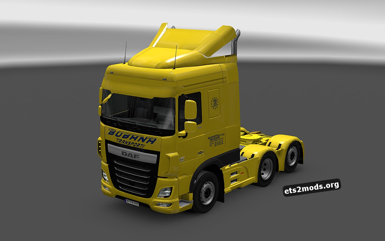 Bobana Transporti Skin for DAF Euro 6