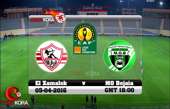 مشاهدة مباراة الزمالك ومولودية بجاية اليوم 9-4-2016 في دوري أبطال أفريقيا