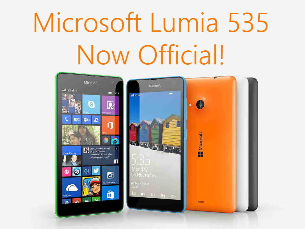 Microsoft Lumia Now Official. Features 5-inch qHD display and Qualcomm Snapgdragon 200 Processor