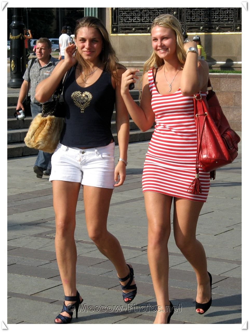 Smiling Moscow Girls and Hot Summer