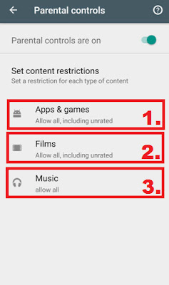 google play games parental controls