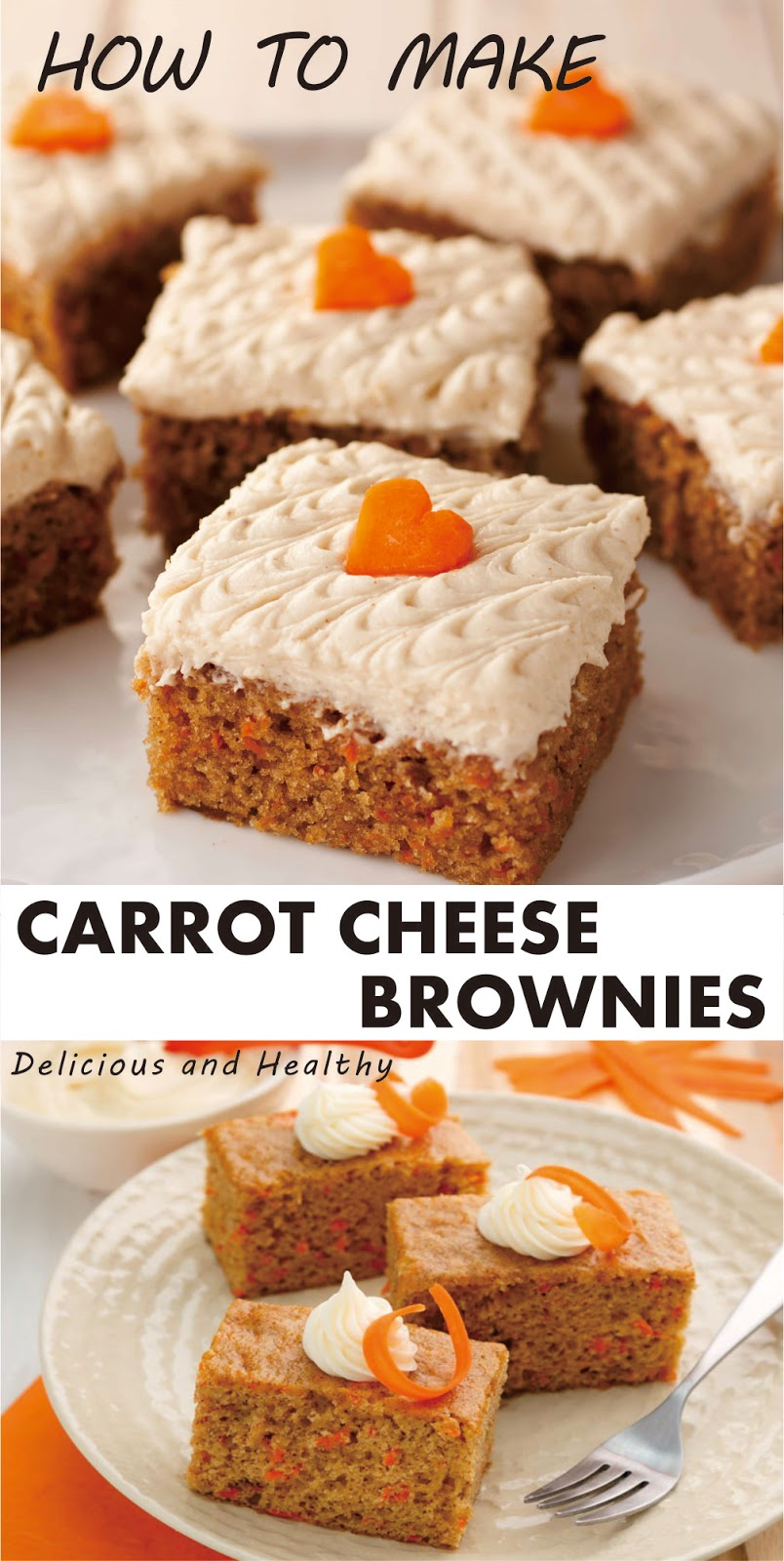 CARROT CHEESE BROWNIES