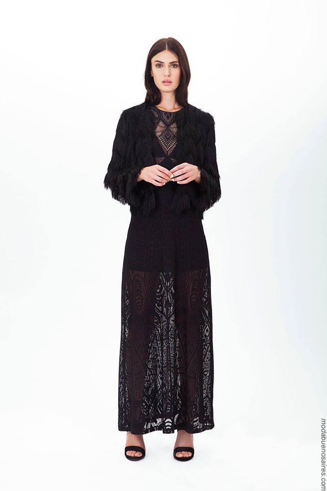 Moda 2017. Looks casual chic para el día y la noche invierno 2017 by Ceilonia. Moda vestidos 2017 para mujer.