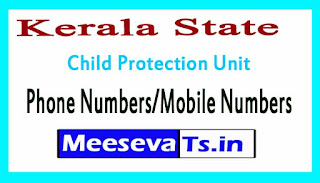 District Child Protection Unit (DCPU)Phone Numbers/Mobile Numbers in Kerala State
