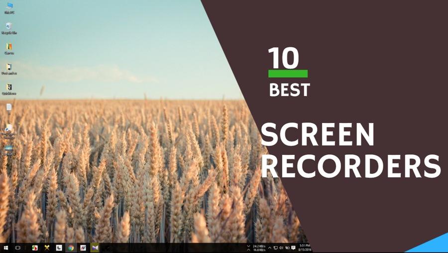 best screen recording software, windows 10