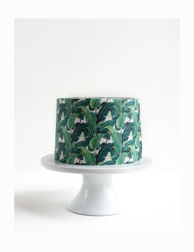 Tropical Print Wallpaper Cake