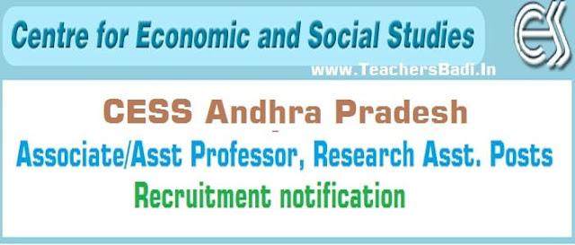 AP CESS,Associate/Assistant Professor, Research Asst. Posts 2016