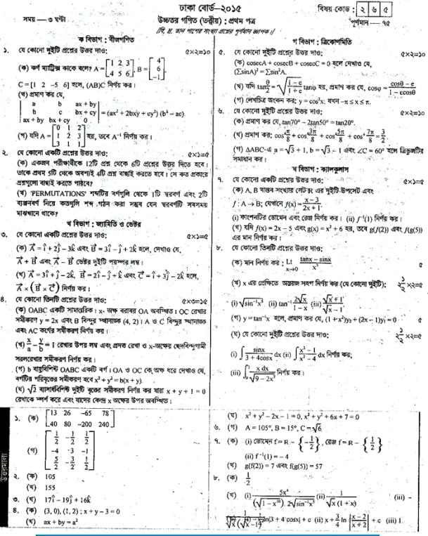 hsc english 2nd paper question 2015 dhaka board