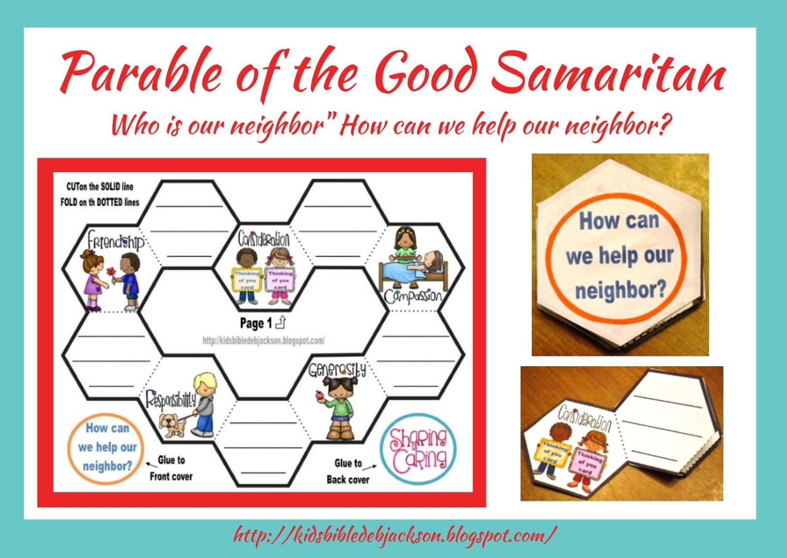 Kindness Good Samaritan Worksheet