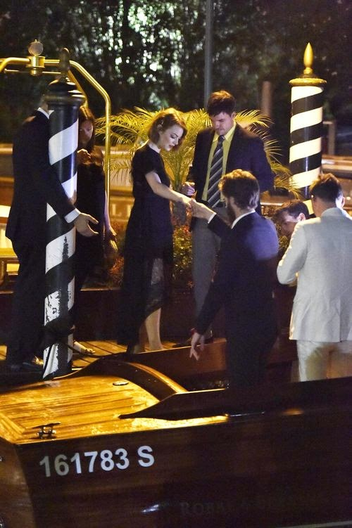Emma Stone and Andrew Garfield in Venice