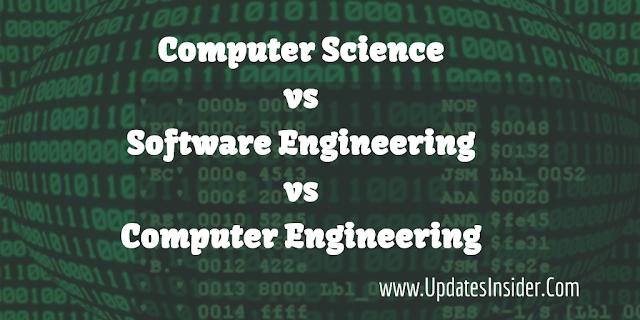 Computer Science vs Computer Engineering vs Software Engineering