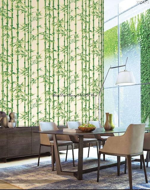 Giấy dán tường hình rừng cây trúc