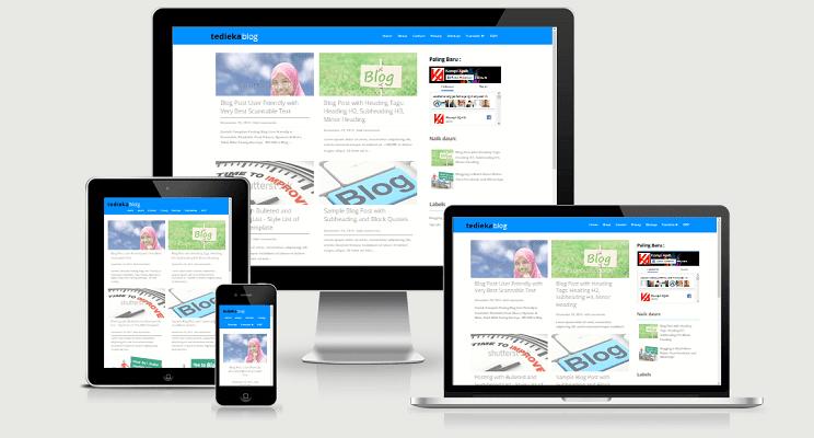 template blogger gratis dengan fast loading
