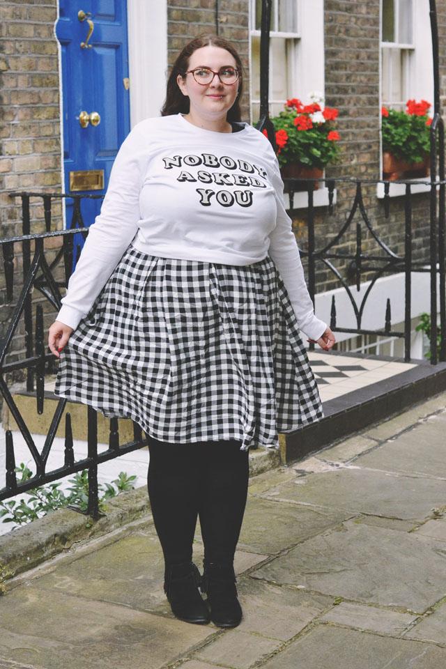 Plus size monochrome outfit