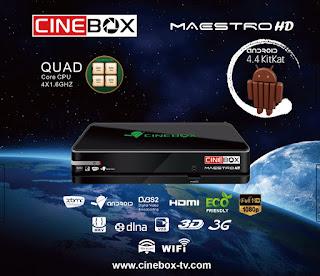 Atualização CineBox Maestro HD V 4.39.0 - 11/06/2018