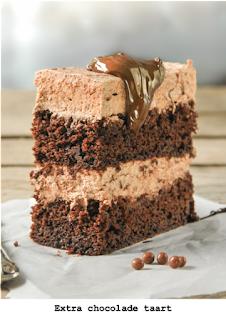 Chocoladecake met chocolademousse met mascarpone en amaretto