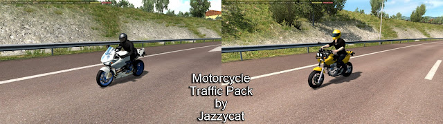 ats motorcycle traffic pack v2.4 screenshots 1, MZ Mastiff, BMW HP2