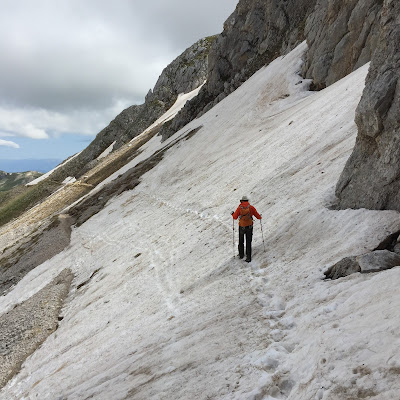 Last big of trail before dropping down on to Rifugio Campo Imperatore