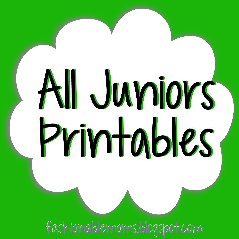 My Fashionable Designs Juniors Printables